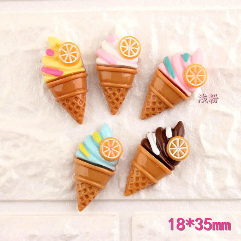 Creative cartoon  ice cream decoration fridge magnets stickers  mini resin powerful refrigerator magnet stickers Food toys