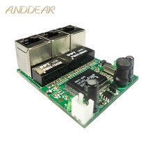 OEM メーカー会社直接販売 Realtek チップ RTL8306E ミニ 10/100 mbps の rj45 lan ハブ 3 ポートイーサネットスイッチ pcb ボード