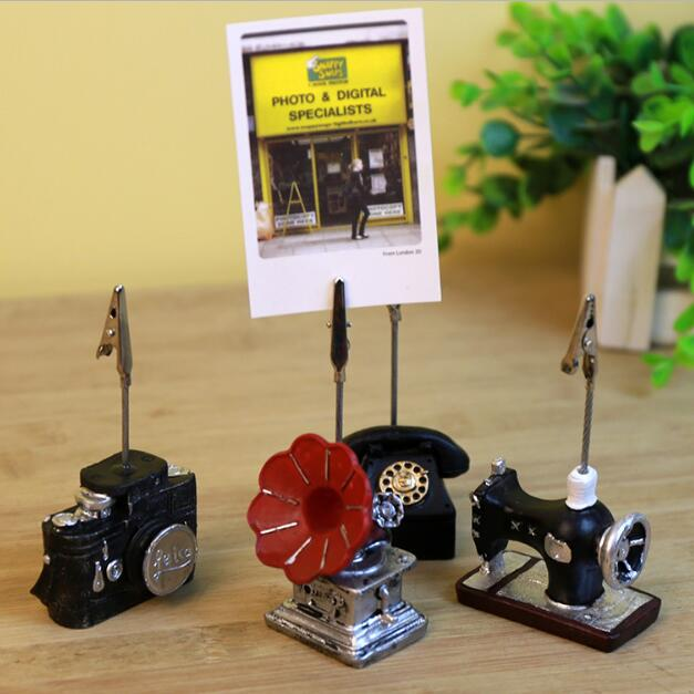 1 Piece Creative Vintage Desk Notes Folder Message And Photo Paper Clip Stander Holder School Office Stationery Supplies