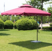 2.5*2.5m sun umbrella rainproof umbrella garden parasol sunshade advertising outdoor cover