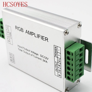 Image 2 - LED RGBW /RGB Amplifier DC12   24V 24A 4 Channel Output RGBW/RGB LED Strip Power Repeater Console Controller