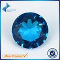 1000 pcs 1.0-4.5mm Escuro SeaBlue Cor Forma Redonda Máquina de Corte De Vidro Soltas Pedra Gemas Sintéticas Para Jewlry