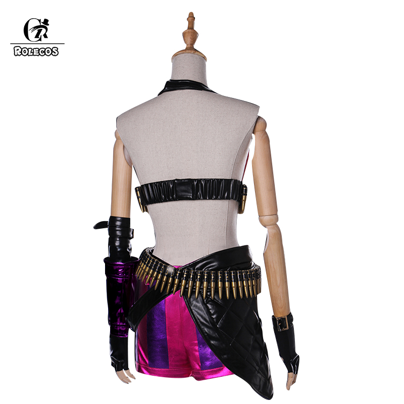 Image 2 - ROLECOS Jinx LOL Cosplay Costume Jinx Cosplay  Game LOL Costume Women Halloween Costume Full Set-in Game Costumes from Novelty & Special Use