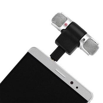 Micrófono estéreo 5-10 Uds Mini de 3,5mm para grabación de teléfono móvil, micrófono para entrevistas en estudio