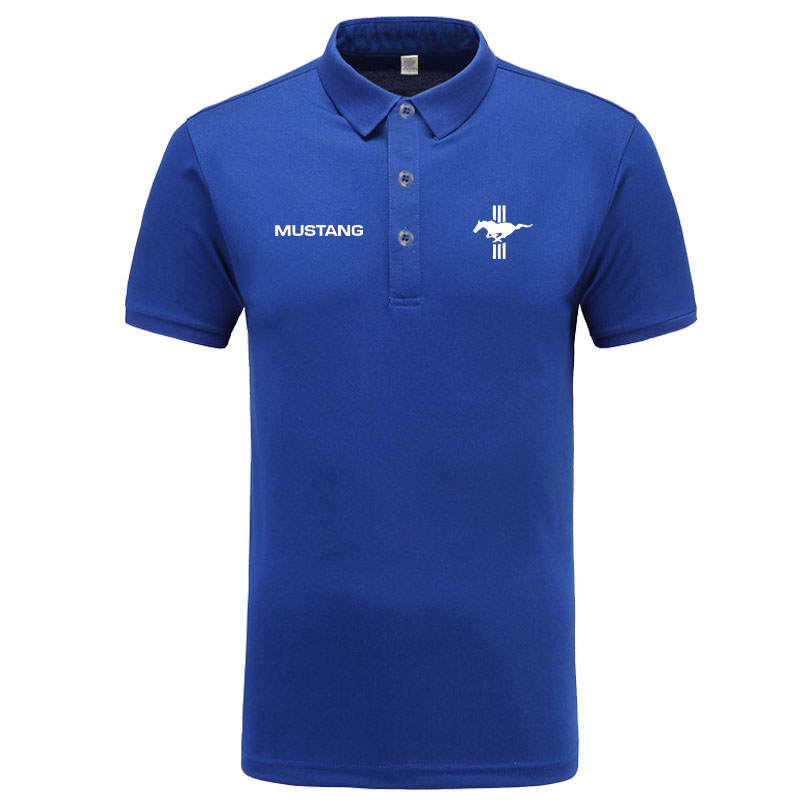 Mustang logo   Polo   Shirt Men Brand Clothes Solid Color   Polos   Shirts Casual Cotton Short Sleeve   Polos