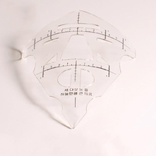 Reusable Eyebrow Stencil Makeup Micro-blading Measuring Shaper Tattoo Ruler Tool 2