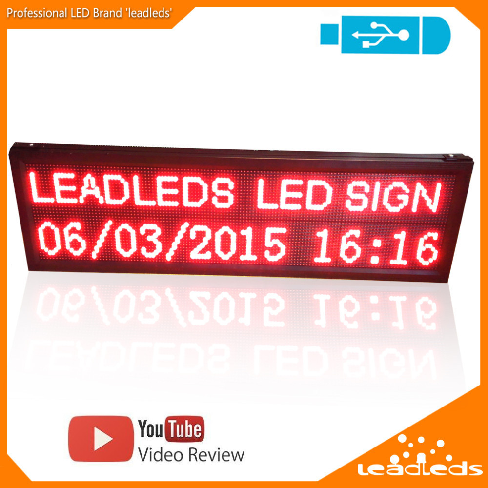 P10 Outdoor LED Display Red LAN Programmable Scrolling LED Message Sign Board