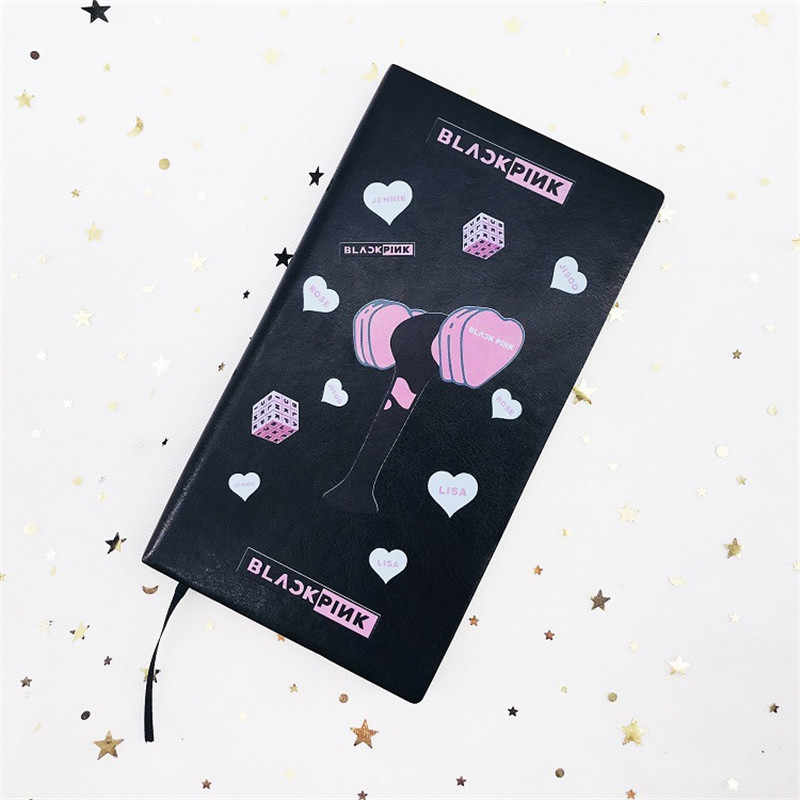 Kpop BLACKPINK TWICE GOT7 SEVENTEEN Notebook Diary Workbooks PU Pocketbook Note Pads Stationery Tools