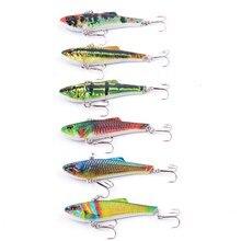 6pcs VIB Lures 6.6g 7cm Lifelike Fishing VIB Lure Pesca Hooks Fish Wobbler Tackle Crankbait Artificial Japan Hard Bait Swimbait