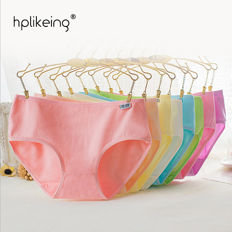 Hplikeing 10pc lot Cotton Girl Briefs rainbow color Panties for girls Teenage Kids Underwear Pants Underpants Calcinha 8 18T in Panties from Mother Kids