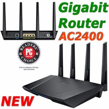 NEW RT-AC87U/R 802.11AC 2400Mbps Dual Band Gigabit Router Wireless WiFi Router with 4x4 MU-MIMO Antenna For ASUS Router OEM(China (Mainland))