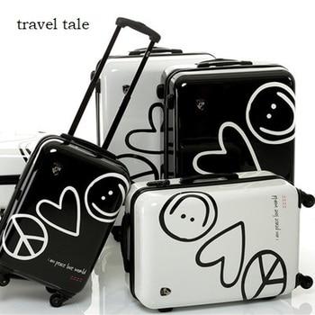 05092648b Amor viaje historia alta calidad super amor 20/24 pulgadas PC rodante equipaje  Spinner maleta de Viaje Unisex