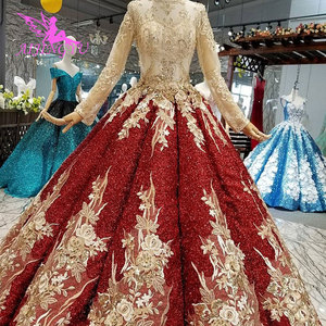 Image 3 - AIJINGYU Long Tail Wedding Dress Casual Gown India Turkey With Ruffles Rustic Brides All Gowns Wedding Dresses