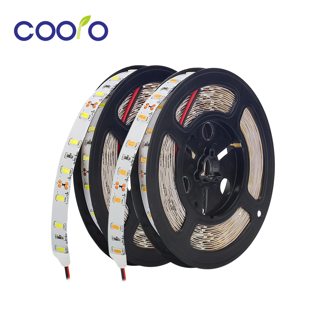 5630 LED Strip Light White / Warm White 3000K 6500K LED Strip 12V Not Waterproof Ribbon Led Lights Decoration 300leds 5M/lot