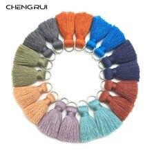 CHENGRUI L61, 2 см, с кисточками, хлопковое платье-майка с бахромой и кисточками, ювелирные изделия, аксессуары, аксессуары для ручной работы, ручной работы, фурнитура для серег, 10 шт./пакет