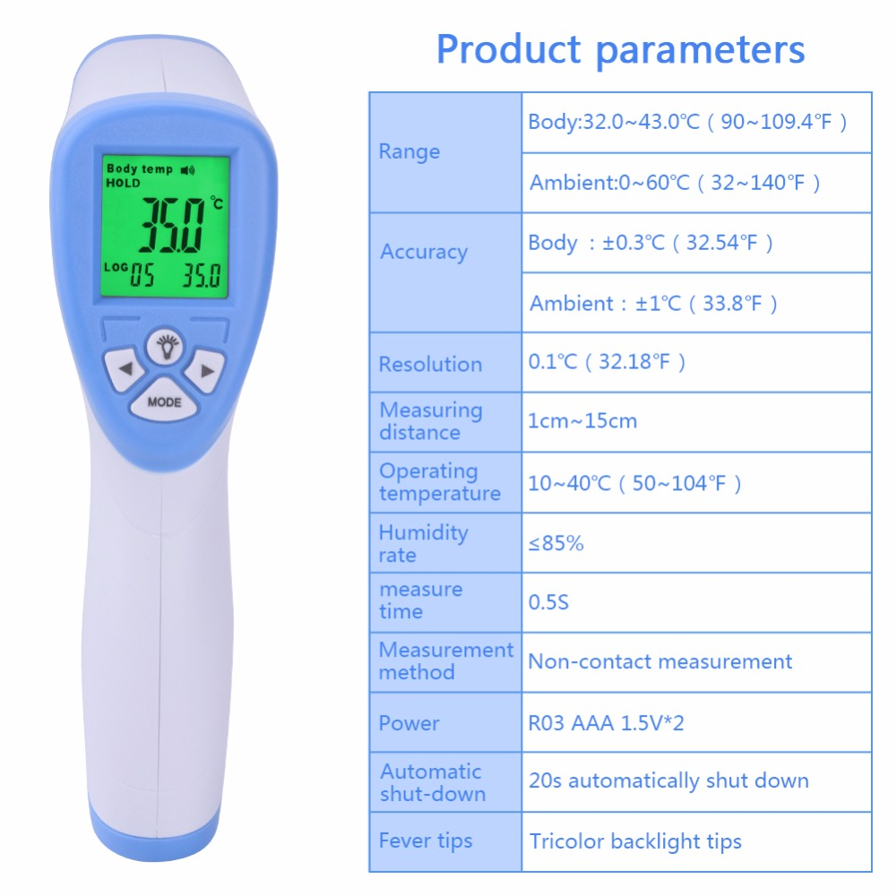 yieryi DT 8809C Digital Baby Thermometer Body Infrared Thermometer ...