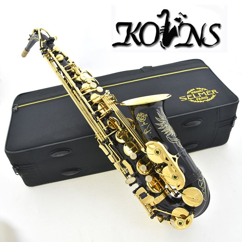 New High Quality Saxophone Alto Sax Salmer 54 alto saxophone Musical Instruments Professional E-flat Sax Accessories Saxophone alto saxophone 54 eb flat alto sax top musical instrument sax wear resistant black nickel plated gold process sax page 1