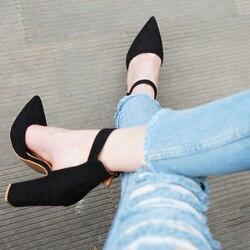 2019 г., пикантные классические женские босоножки на высоком каблуке Летняя обувь женские туфли-лодочки с ремешками женская обувь на платформ...