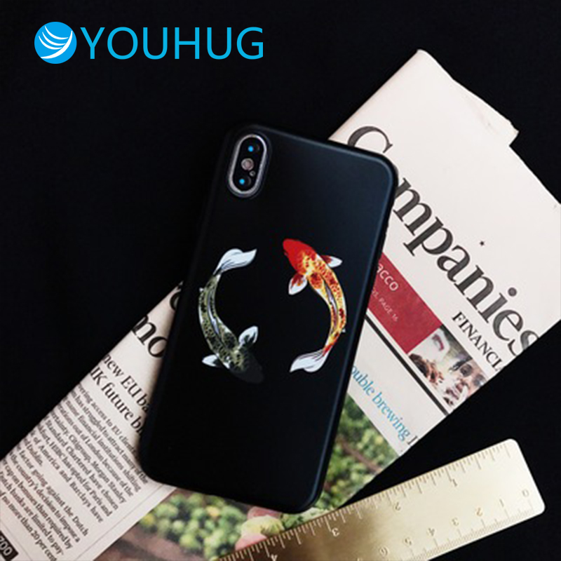 For IPhone7plus/X Mobile Phone Shell New Year Carp IPhone8/6s Plus Protective Cover Silicone Soft Shell