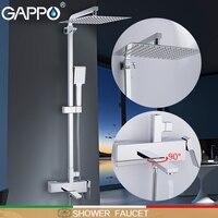 GAPPO смеситель для душа настенный монтаж латунный душевой гриферия Ванная комната Душ Набор душевых головок смесители типа водопад