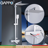 GAPPO shower Faucet wall mounter brass shower griferia bathroom rainfall shower set shower heads waterfall faucets