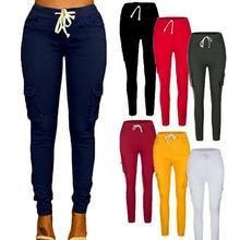 2018 Autumn Cargo Pants Women Military Clothing Multi-Pocket Cotton Joggers