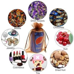 Image 5 - En gros Organza sac 17x23 cm bijoux emballage affichage pochettes mariage noël cadeau sacs bijoux sacs et pochettes 100 pcs/lot