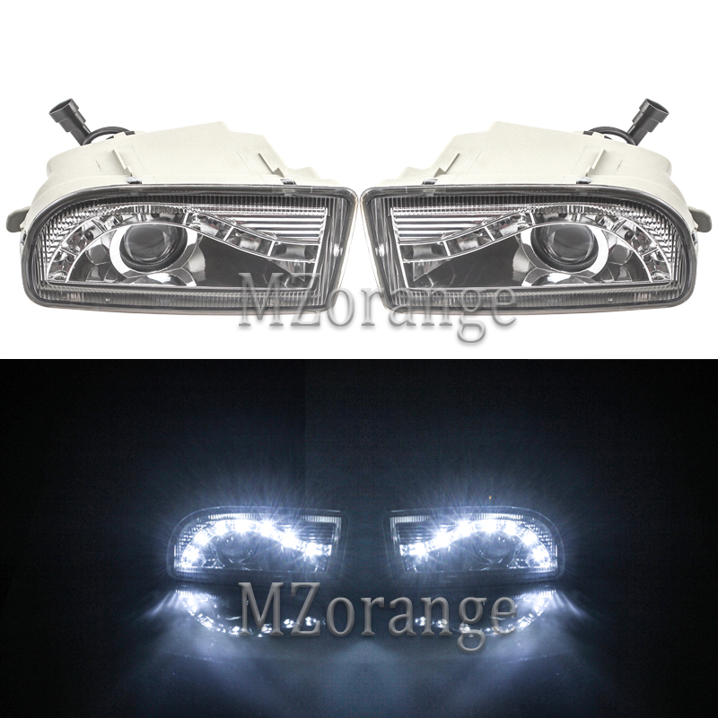 MIZIAUTO Fog Lights For <font><b>TOYOTA</b></font> LAND CRUISER <font><b>100</b></font> 1998-2008 LED DRL Headlights Headlight Driving Lamp LC100 UZJ100 FZJ100 HDJ100 image