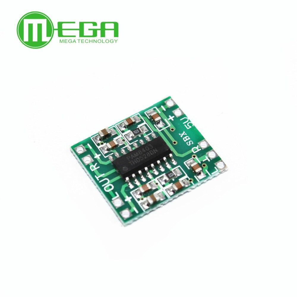 PAM8403 Super Mini Digital Amplifier Board 2 * 3W Class D Digital Amplifier Board Efficient 2.5 To 5V USB