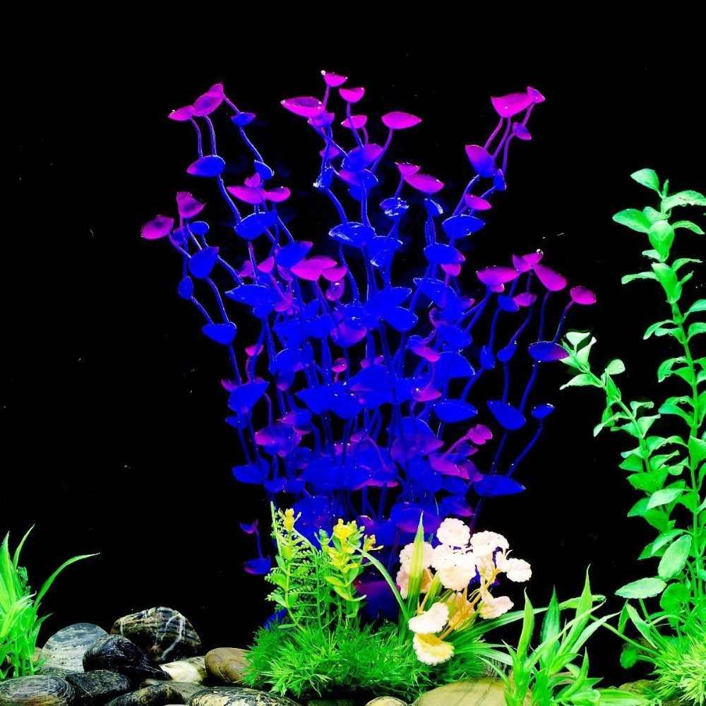 Artificial Plant for Fish Tank Aquarium Landscapes Simulation Aquatic Plants Decoration Fake Plant Fish Tank Decorations Ornament Home Decor Plastic