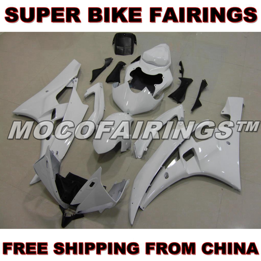 Motorcycle Unpainted ABS Fairing Kit For Yamaha YZF R6 2006 2007 06 07 Fairings Kits Front Nose Bodywork Pieces hot sales yzf600 r6 08 14 set for yamaha r6 fairing kit 2008 2014 red and white bodywork fairings injection molding