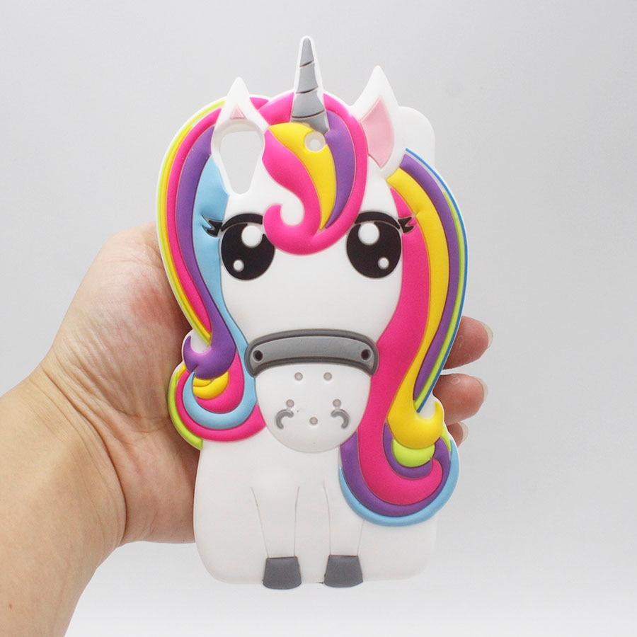 Coque de dessin animé 3D licorne pour HTC Desire 626 coque arrière en Silicone pour HTC 626 D626 626 w 626d 626g 626 s Fundas poney cheval coque de téléphone
