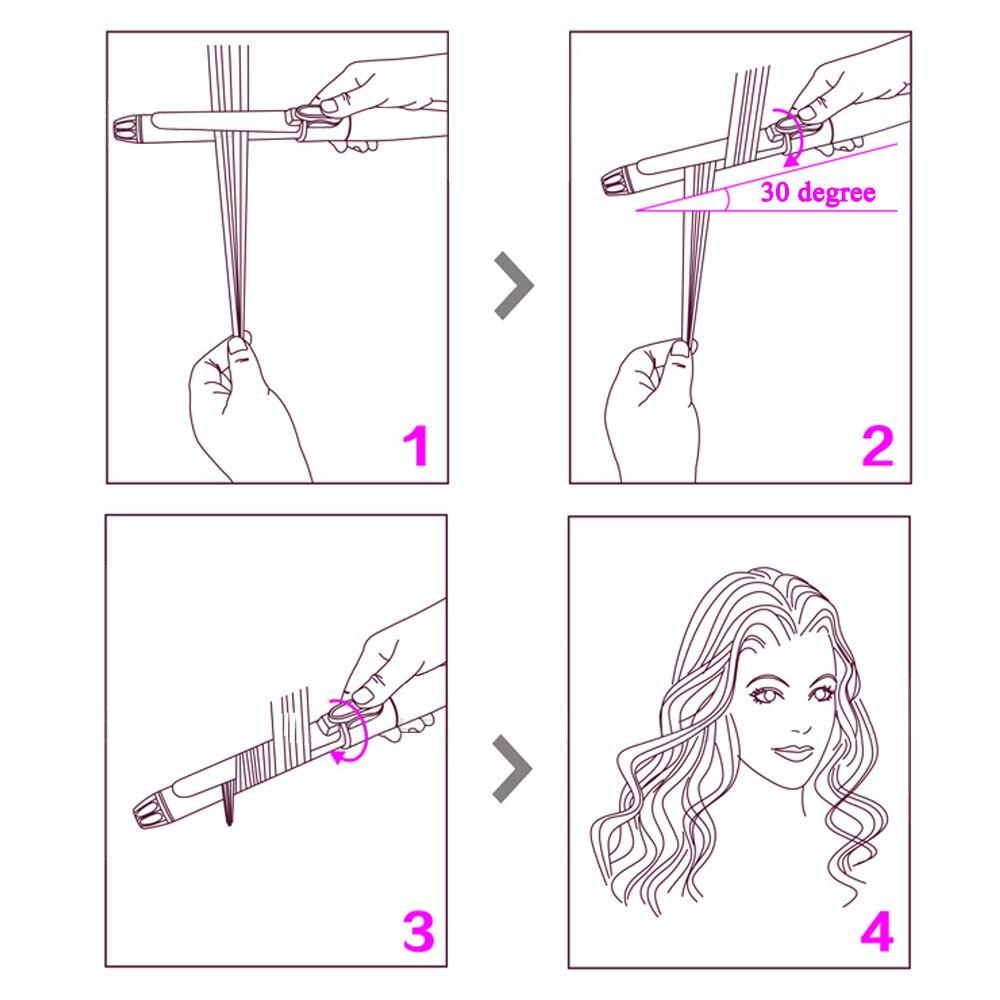 ferro ajuste de temperatura varinha modelador cabelo