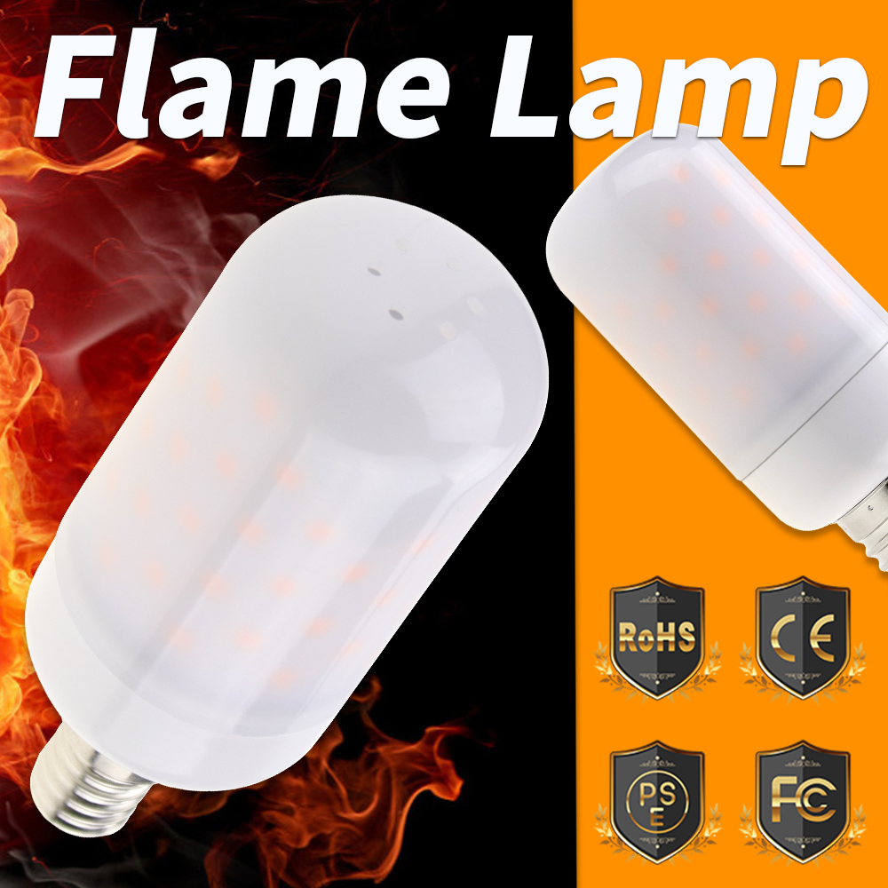 E27 LED Flame Lamp 2835 Candle Fire Bulb Led Burning Light E14 Flicker Flame Corn Bulb E26 5W Bombillas Led For Home Decoration