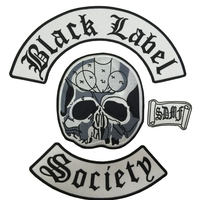 Original Large Size Approx 13 12 BLACK LABEL SOCIETY HEAVY METAL BAND Men S Back Patch