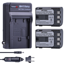 2Pcs NB-2L NB 2L NB2L NB-2LH BP-2L5 1100mAh Rechargeable Li-ion Battery & Charger for CANON camera 350D 400D G7 G9 S30 S40 z1