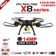 2016 Nueva SYMA X8G X8C X8W X8HG 6 Ejes FPV RC Quadcopter Con SJ7000 14MP 1080 p Full HD WiFi Cámara Drone Profesional
