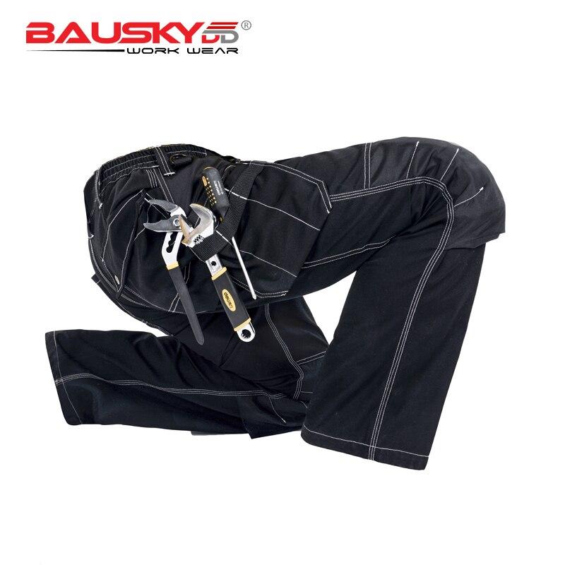 Men's Work Wear Working Pants Tool Trouser Black Work Trousers Men Workwear Free Shipping