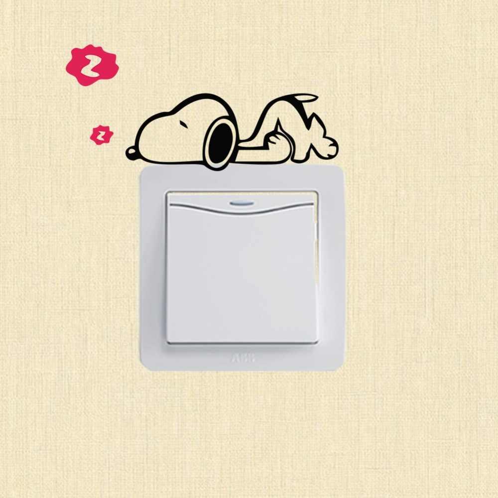 XXYYZZ DIY komik Sevimli Uyku Kedi Köpek Anahtarı Çıkartmalar duvar çıkartmaları Çıkartması Ev Dekorasyon Yatak Odası Oturma Odası Salonu Dekorasyon