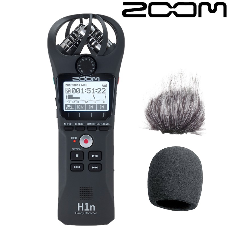 ZOOM H1N professional protable Handheld Digital Recorder Stereo recording pen for Interview SLR recording microphone