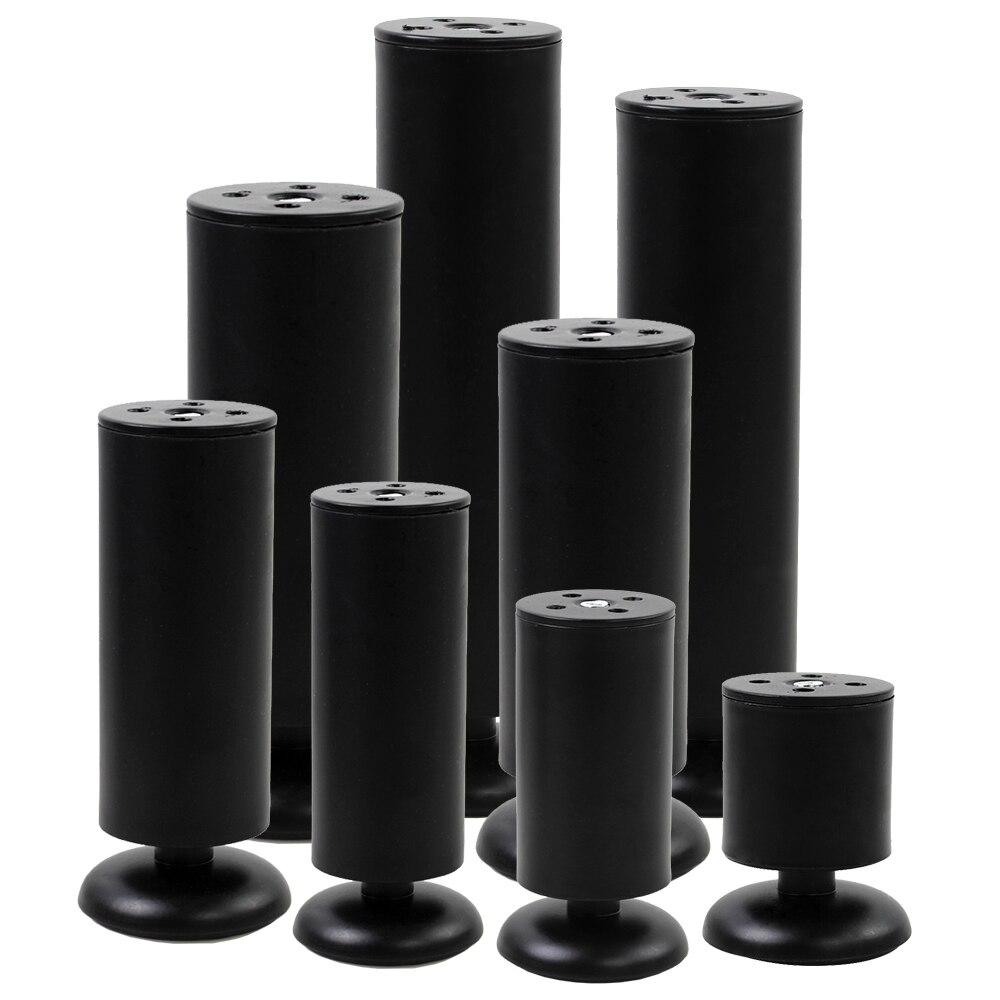 1 Pcs Stainless Steel Adjustable Furniture Legs Black Furniture Legs Feet Cabinet Table Bed Sofa Feet