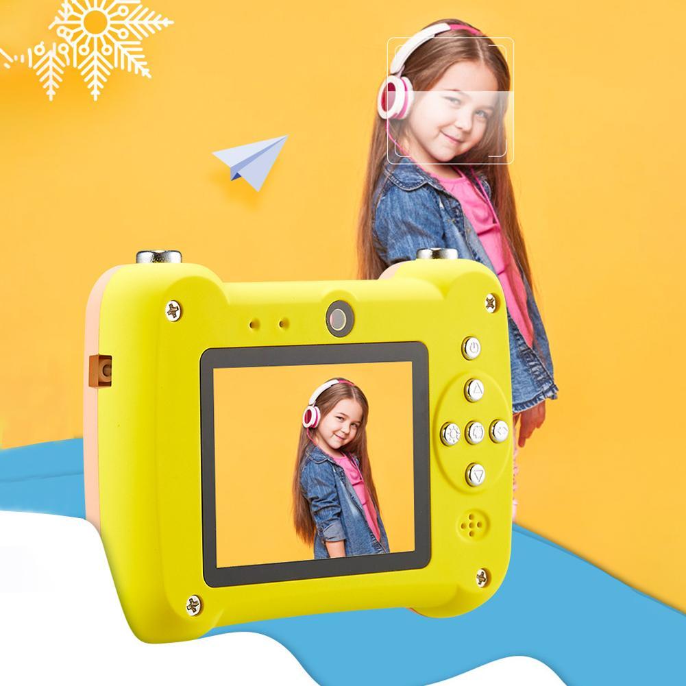 Mini appareil photo numérique petit reflex double objectif caméras jouet pour enfants HD Projection appareil photo numérique enfants cadeau d'anniversaire - 3