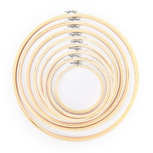 10-40cm Wooden Frame Hoop Circle Embroidery Round Machine Bamboo For Cross Stitch Hand DIY Household Craft Sewing Needwork Tool(China)