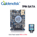 Goldendisk 7pin sata dom 16 gb ssd disk on module mlc nand Flash de 2 GB 4 GB 8 GB 32 GB Drive de Estado Sólido Interno Incorporado Sistema cartão