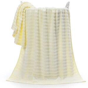 Image 5 - ROMORUS 100% במבוק סיבי אמבט מגבת 70*140cm 520G מגניב אמבטיה מגבת לקיץ סופר רך במבוק מגבות גבוהה סופג toalla