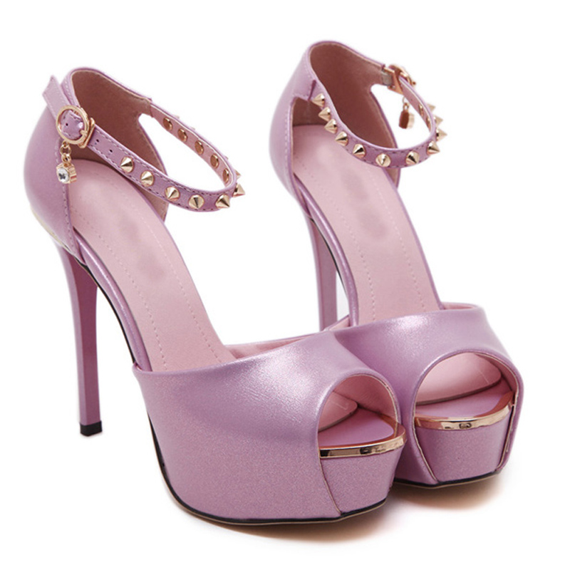 Pink Sandals Y Shoes Silver Pumps Wedding Women P Toe High Heels For Platform Yma21 In From On