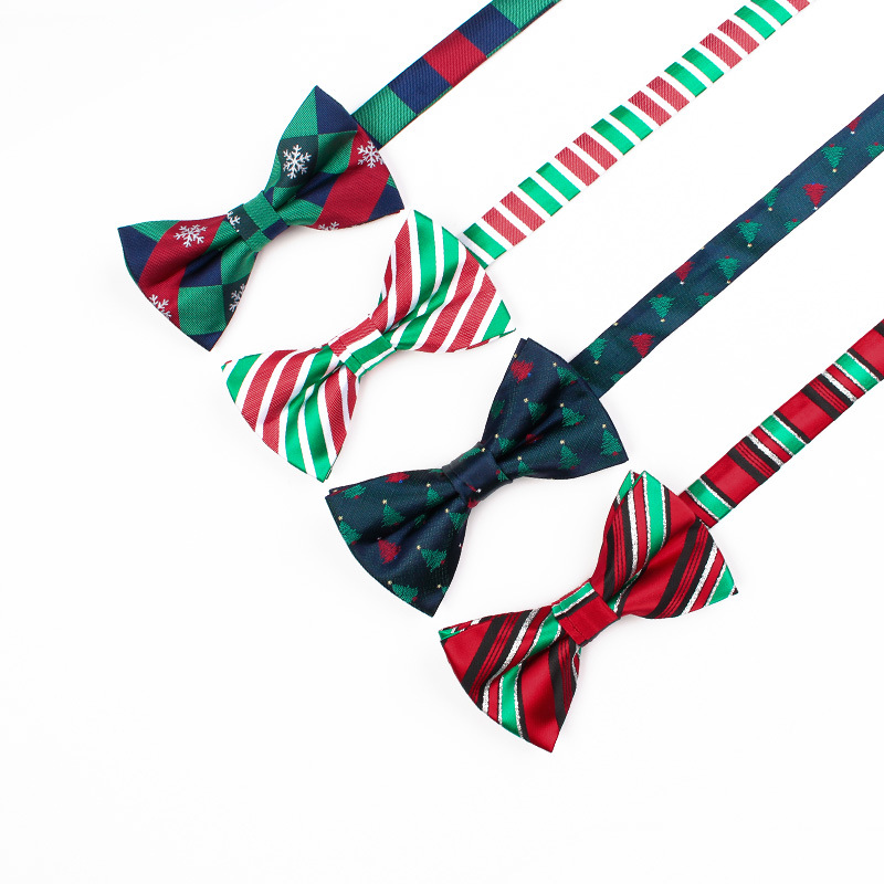 Wholesale 2017 New Arrival Fashion Lovely Mens Bow Tie Brand Tree Bowtie Snowflake Bowknot Bow Tie Cravat Christmas Xmas Gift
