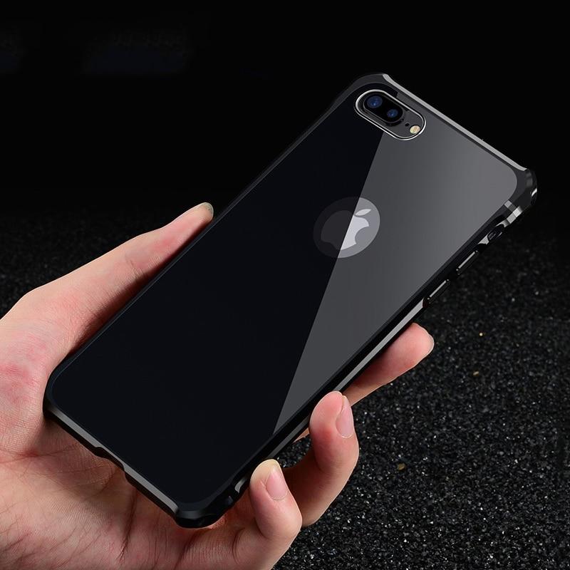 Untuk Apple iPhone 7 Kasus Merek Mewah Keras Glitter Logam Aluminium - Aksesori dan suku cadang ponsel - Foto 2