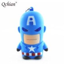 Movie The Avengers Alliance Keyrings Superhero Newest 3D Plastic Captain America LED Flashlight Keychain Sound Keyring