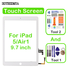 цена на air Touch Screen Digitizer For Apple iPad 5 Air 1 A1474 A1475 A1476 Front Glass Display Touch Panel Replacement+Repair Tools